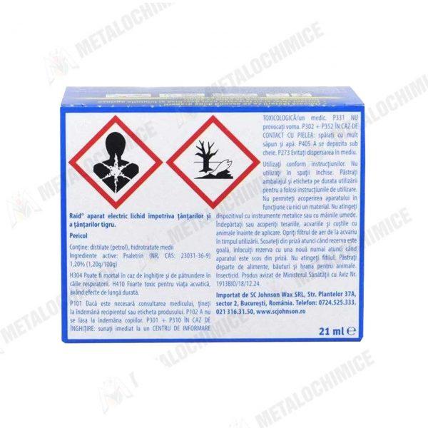Aparat electric anti tantari Raid cu rezerva lichid 3