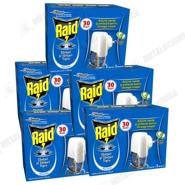 Aparat tantari Raid cu rezerva lichida 21 ml 5 bucati 1