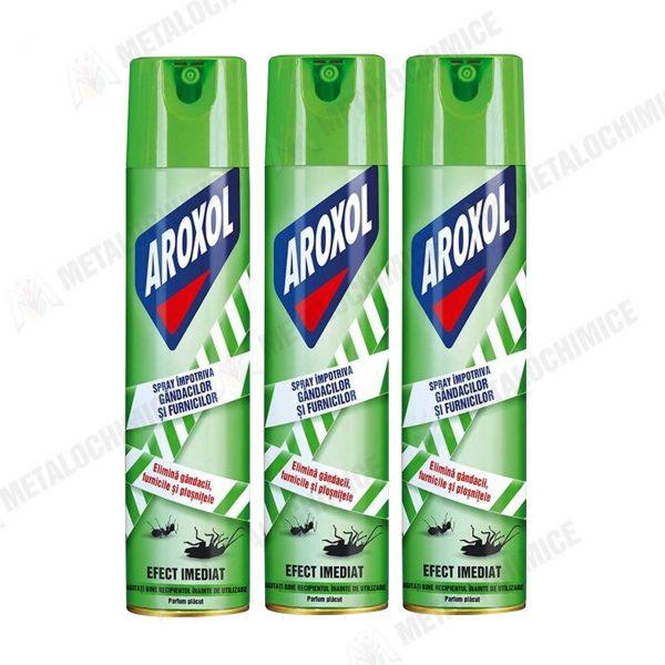 Aroxol Spray Gandaci si Furnici Aerosol 400ml 3buc 1