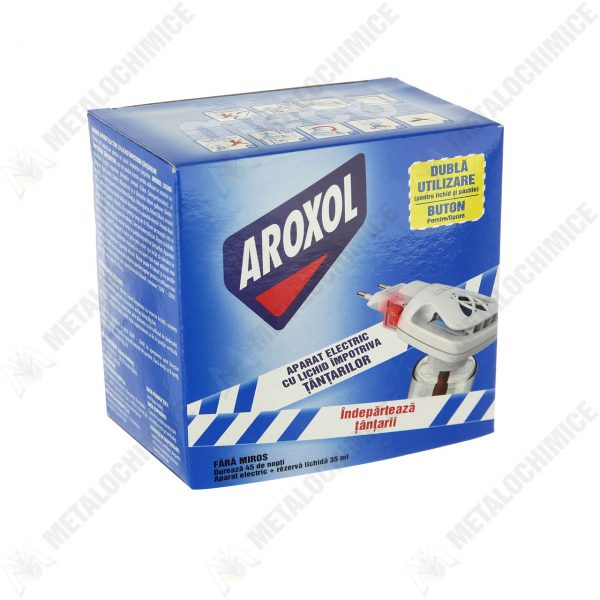 Aroxol aparat tantari cu rezerva lichid 45 Nopti, 35 ml