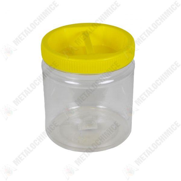 Borcan 1L din plastic transaparent cu capac