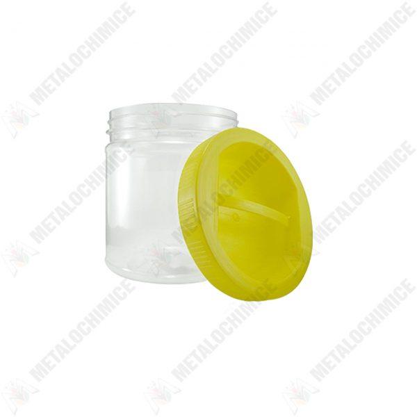 Borcan 1L din plastic transaparent cu capac1