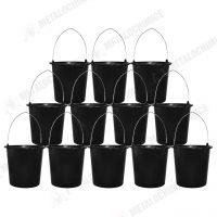 Galeata din plastic constructii 12 l neagra 12 bucati 1