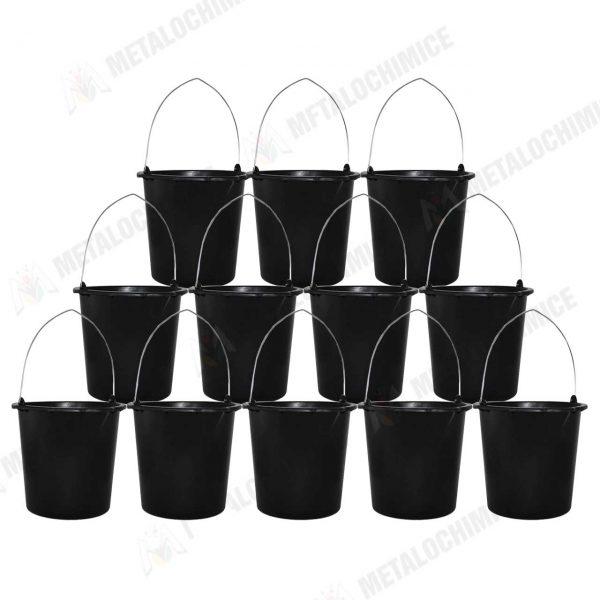 Galeata plastic constructii 12 l neagra 12 bucati 1