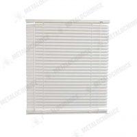 Jaluzea geam de interior din plastic PVC orizontala alb 65 x140 cm