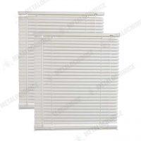 Jaluzele din PVC orizontale albe 75 x 140 cm 2 bucati 1