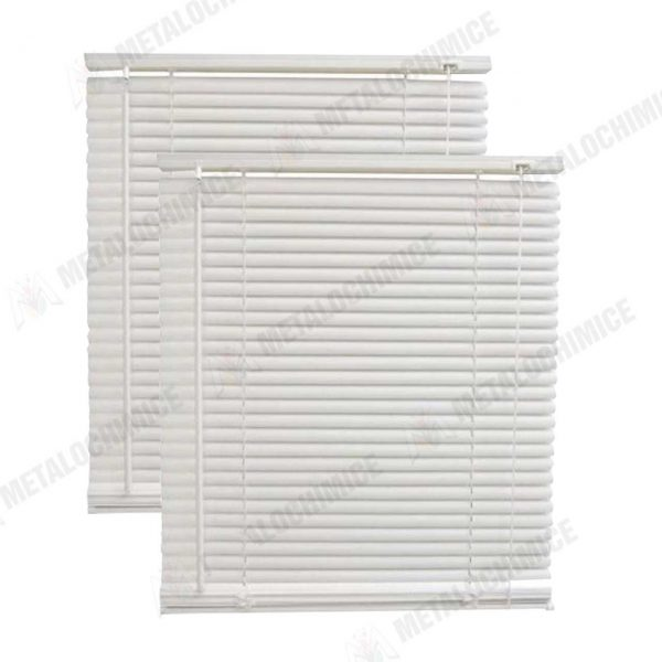 Jaluzele plastic orizontale albe 80 x 110 cm 2 bucati 1