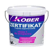 Kober Zertifikat Vopsea superlavabila de interior alba 15 L