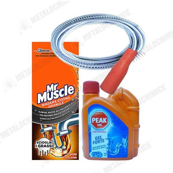 Mr Muscle granule 250g Peak Out gel 500ml Sarpe 3M 1