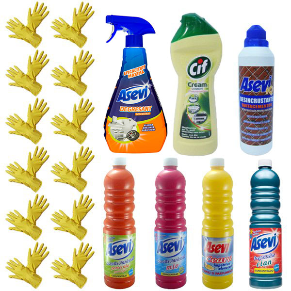 Pachet---12x-Manusi-menaj-+-Cif-Cream-250ml-+-Asevi-degresant-750ml-+-Asevi-dezincrustant-500ml-+-Asevi-pardoseli-1L