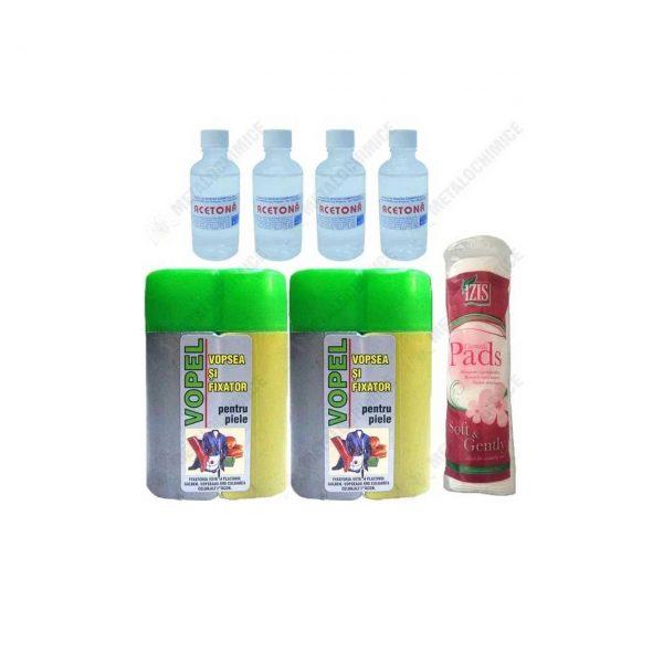 Pachet 7 produse Vopel gri pentru piele si accesorii