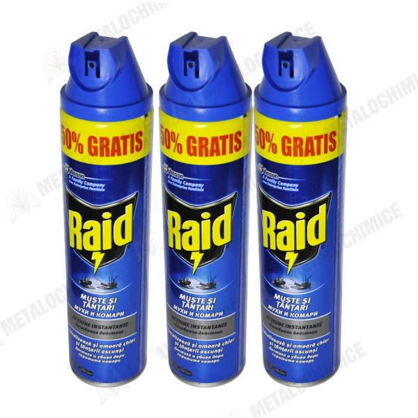 Raid Muste si Tantari Spray aerosol 400ml 3buc 1
