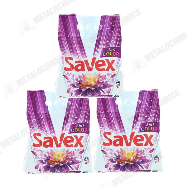 Savex 2in1 Color detergent automat rufe 2kg 3 buc 1