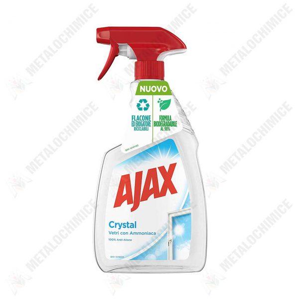 ajax crystal clean solutie spalat geamuri cu amoniac 500 ml imagine