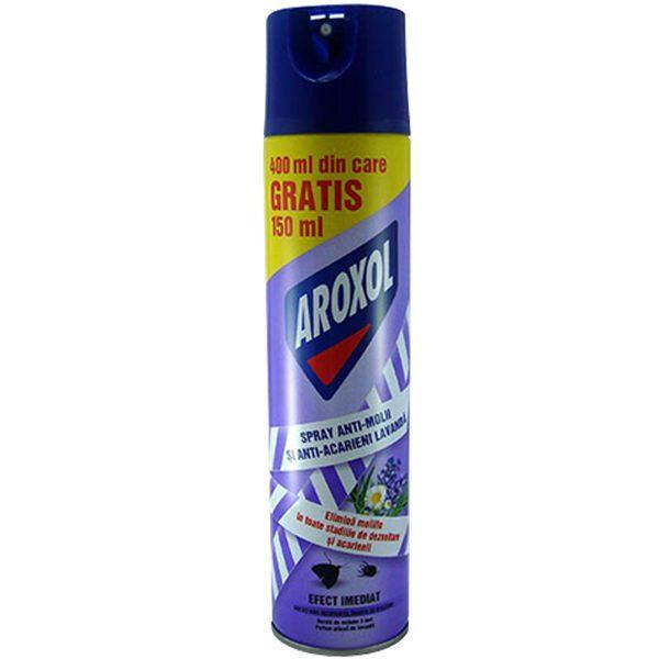 Aroxol spray anti-molii si anti-acarieni lavanda 400ml  din categoria Spray-uri Insecte