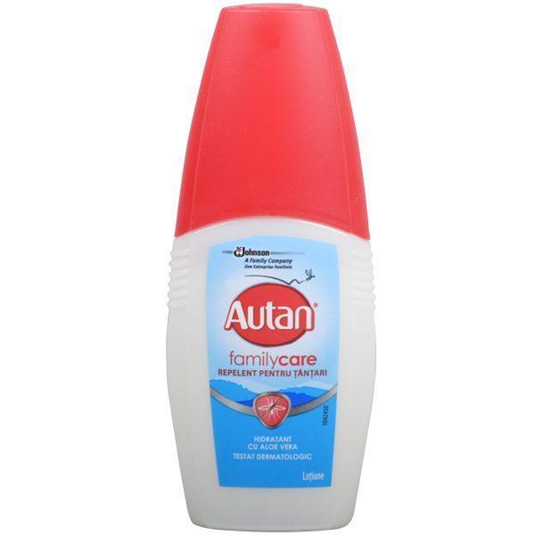 Autan Family Care, Repelent tantari cu Aloe Vera, 100 ml