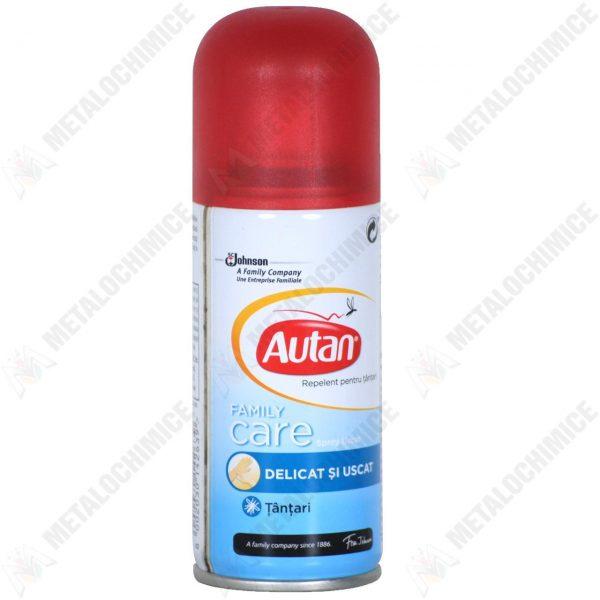 Pachet 5 bucati - Autan Family Care, Spray uscat impotriva tantarilor, Cu aloe vera, 100 ml