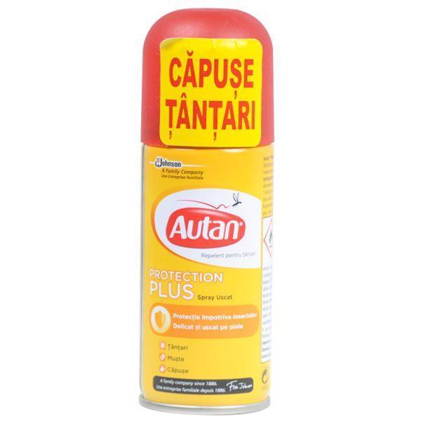 Autan Protecion Plus, Spray uscat impotriva insectelor, 100 ml