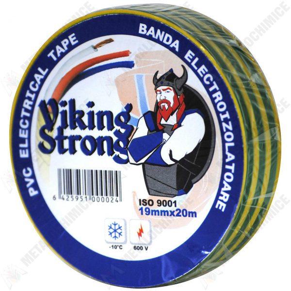 Viking Strong Banda izolatoare, PVC, 19 mm x 20 m, verde