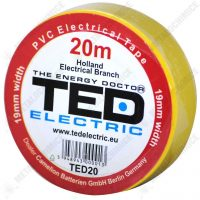 TED Electric Banda izolatoare, PVC 19 mm x 20 m, Galben  din categoria Bride de plastic, benzi montaj si izolatoare