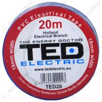TED Electric Banda izolatoare, PVC 19 mm x 20 m, Albastra  din categoria Bride de plastic, benzi montaj si izolatoare