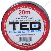 TED Electric Banda izolatoare, PVC, Negru, 19 mm x  20 m  din categoria Bride de plastic, benzi montaj si izolatoare