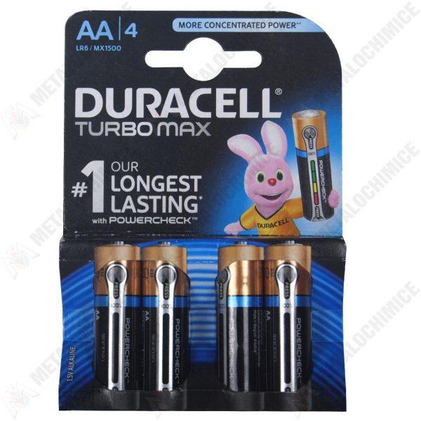 Baterii alcaline Duracell Turbo Max AA/R6