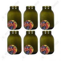 BAX 6 bucati - Borcan din sticla cu capac 3L  din categoria Borcane, peturi si sticle