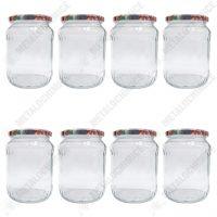 Borcan sticla cu capac 1.7L - 8 buc  din categoria Borcane, peturi si sticle