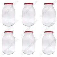 Borcan sticla cu capac 4 L - 6 buc  din categoria Sticle, Borcane si Peturi