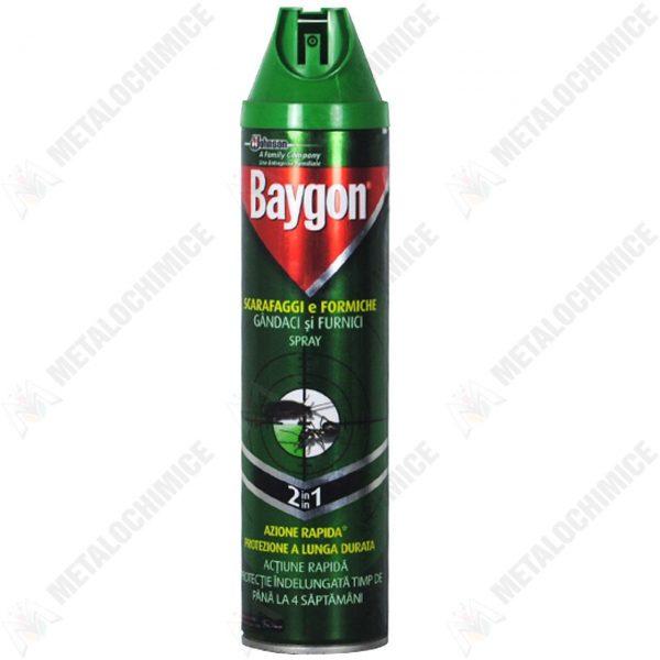 Pachet 6 bucati - Baygon universal , spray insecticid aerosol parfumat pentru, Tantari, Gandaci, Muste, Viespi, Paienjeni, Molii 6 x 400ml