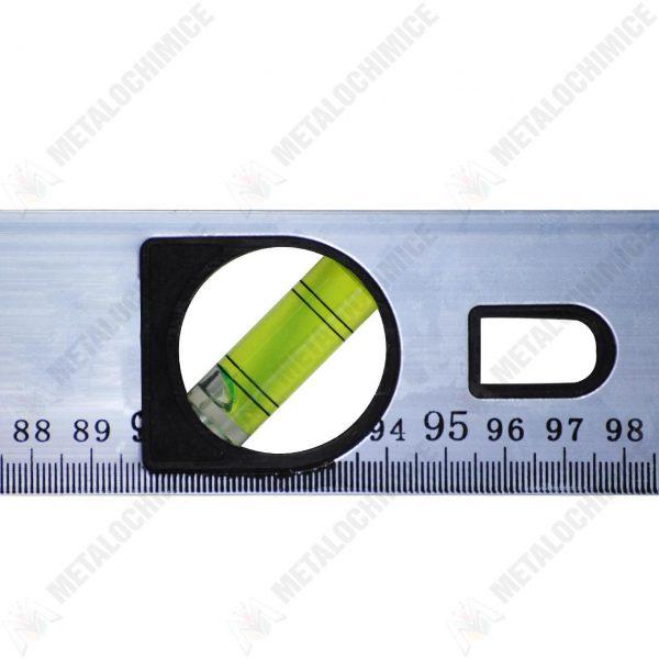 Nivela magnetica, boloboc profesional cu 3 bule, aluminiu, 100 cm