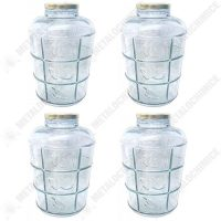 Borcan din sticla cu capac ermetic - BAX 4 bucati 8.5 litri  din categoria Borcane, peturi si sticle