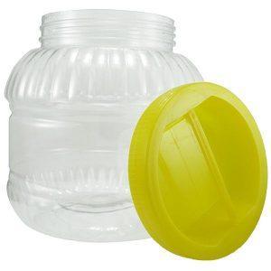 Borcan din plastic 5 litri, Pet din plastic alimentar