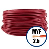 Cablu / Conductor MYF electric 2.5 mmp, rosu, 100 M, H07V-K  din categoria Conductori electrici