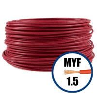 Cablu / Conductor electric MYF litat 1.5 mmp, rosu, 100M, H07V-K  din categoria Conductori electrici