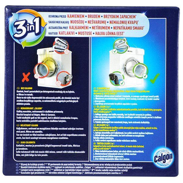 Pachet 3 cutii - Calgon Powerball anti-calcar tablete pentru masina de spalat, 15 tablete/cutie, 195g