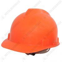 Casca de protectie santier din polietilena, portocalie  din categoria Pentru protectie