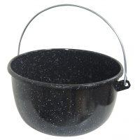 Ceaun / Tuci din tabla emailata cu maner 5 litri  din categoria Ceaune