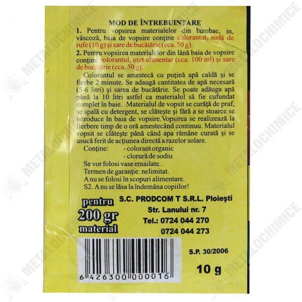 Colorant textil, Grena, 10g