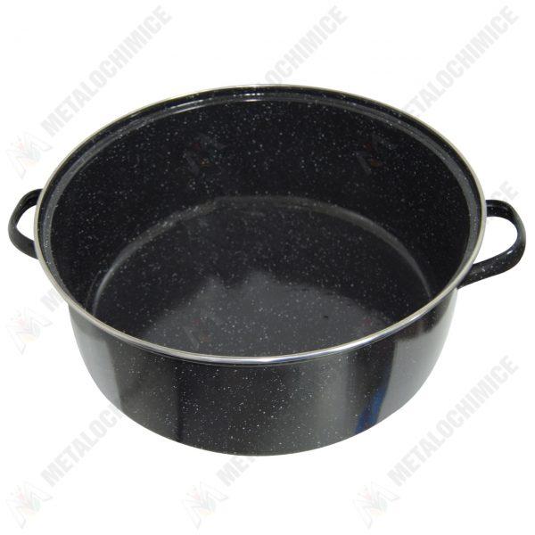 cratita emailata 20 litri neagra 2