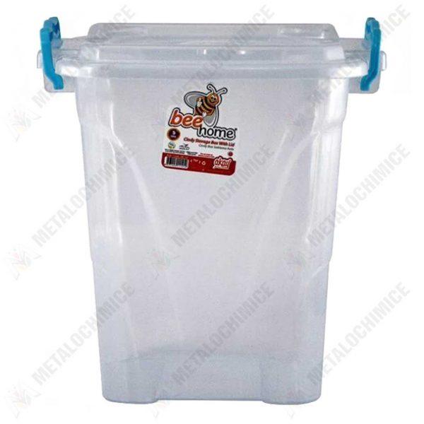 cutie alimentara 5 l transparenta cu capac
