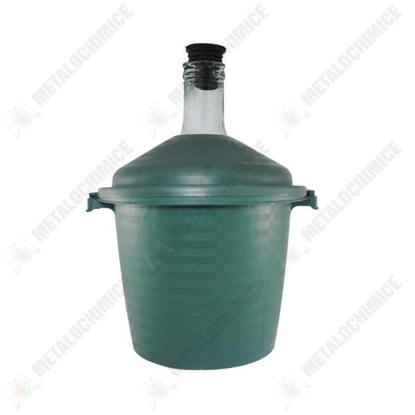damigeana 10 litri in cos plastic si dop cauciuc 1