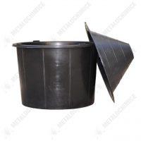 Damigeana 54 L cu dop cauciuc in cos plastic, negru  din categoria Damigene sticla