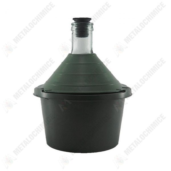 damigeana 5l dop cauciuc cos din plastic verde 1