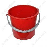 galeata plastic 10 litri rosie 2