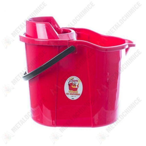 galeata plastic 15 litri cu storcator rosie 1
