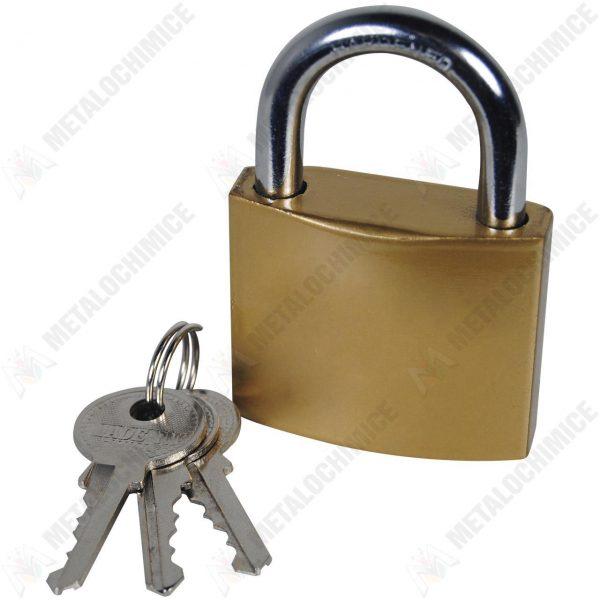 Lacat cu 3 chei Auriu 75mm