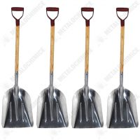 Pachet 4 bucati, Lopata, Din aluminiu, Cu coada si maner, Pentru zapada  din categoria Lopeti