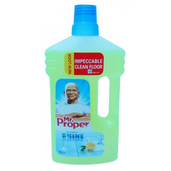 Mr proper, Clean and Shine, Podele si suprafete mari, 1l